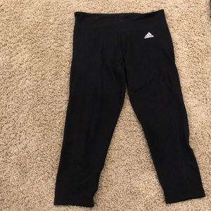 Adidas cropped climalite leggings size M